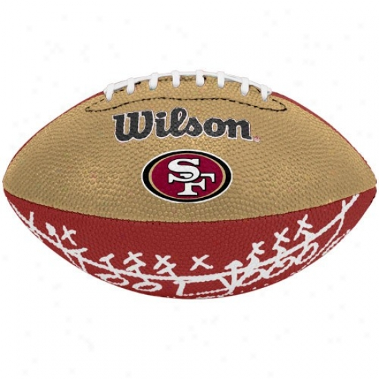 Wilson Ssn Francisco 49ers Rubber Mini Football