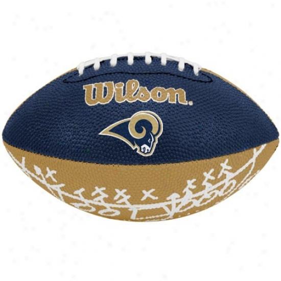 Wilson St. Louis Ram Rubber Mini Football