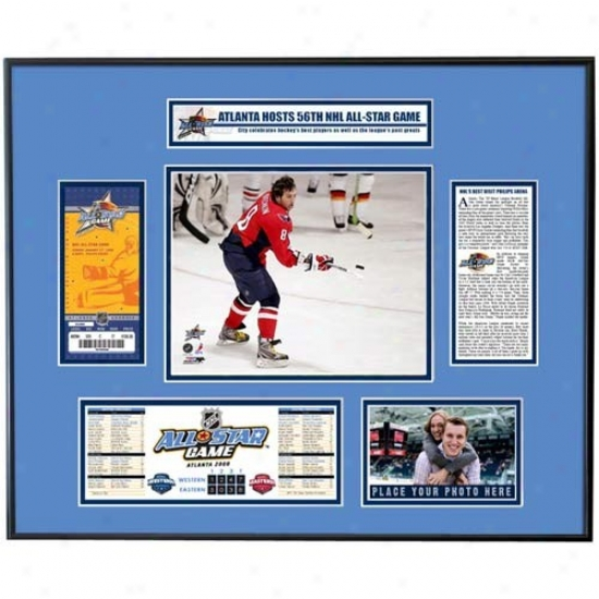 2008 Nhl All-star Game  Alexander Ovechkin Ticket Frame