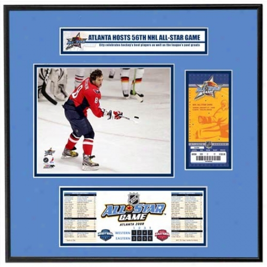 2008 Nhl All-star Game Ticket Frame Jr. - Alexander Ovechmin