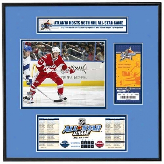 2008 Nhl All-star Game Ticket Frame Jr. - Eric Staal