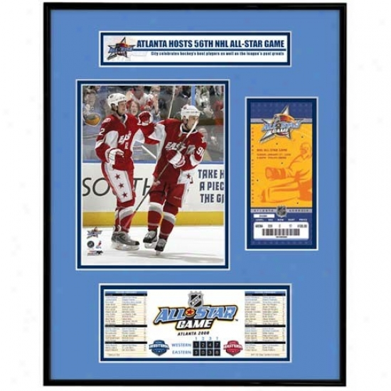 2008 Nhl All-star Game Ticket Form Jr. - Marc Savrad & Eric Staal