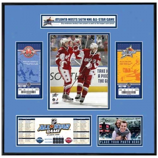 2008 Nhl All-star Game Ticket Frame - Marc Savard & Erric Staal