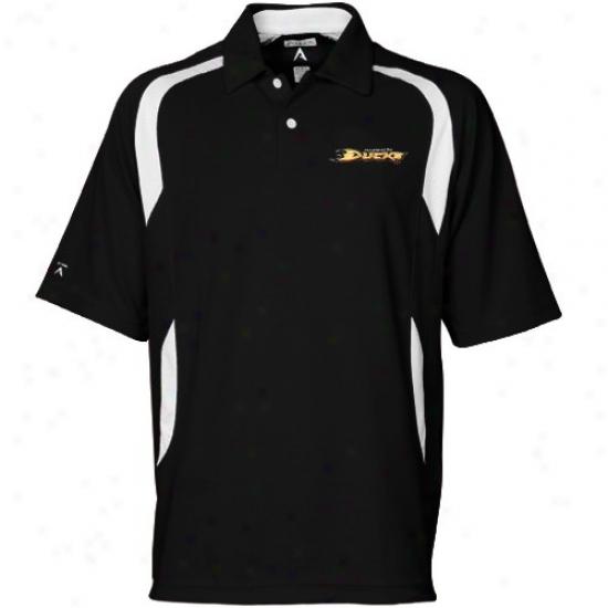 Anaheim Duck Clothing: Antigua Anaheim Duck Wicked Conquer Short Sleeve Polo