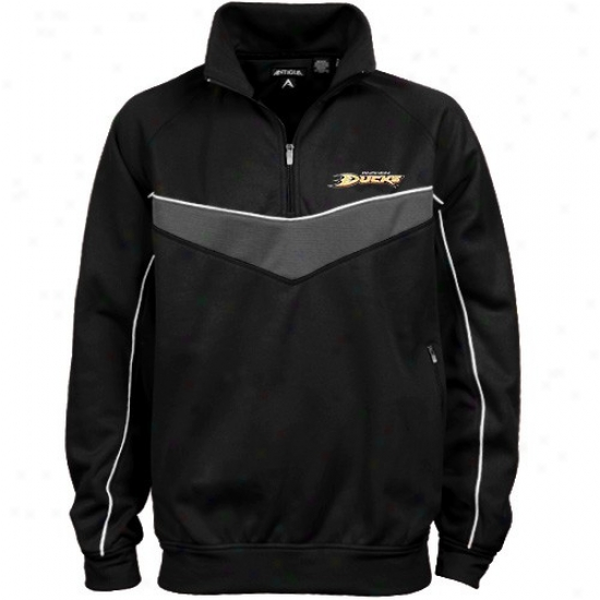 Anaheim Duck Jacket : Antigua Anaheim Duck Mourning Equinoctial point 1/4 Zip Pullover Jacket
