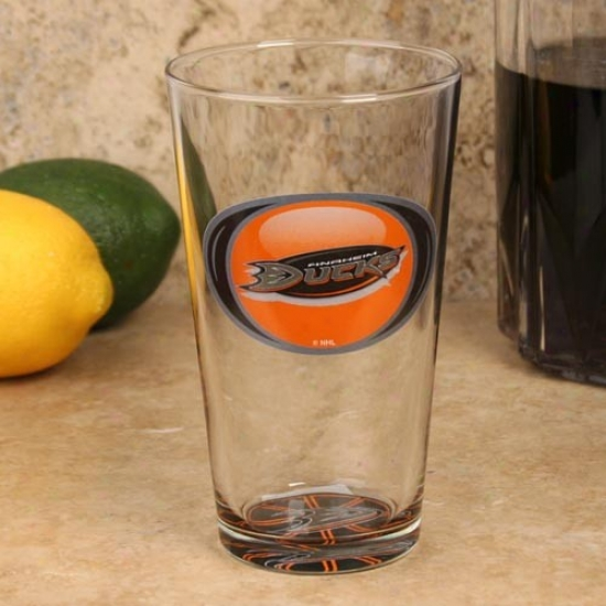 Anaheim Ducks 17 Oz. Vortex Bottoms Up Mixing Glass