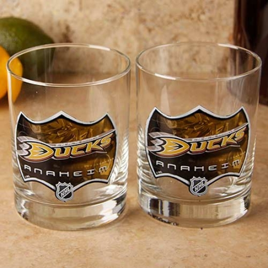 Anaheim Ducks 2-pack Enhanced Hi-def 14oz. Executive Rocks Glass