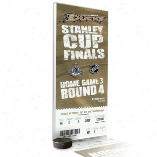 Anaheim Ducks 2007 Stanley Cup Champions Historic Mega Ticket - Game 5 Clincher