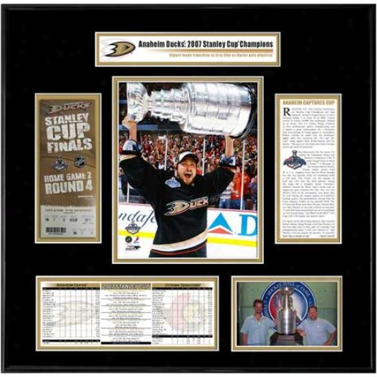 Anaheim Ducks 2007 Stanley Cup Champions Ticket Frame- Teemu Selanne