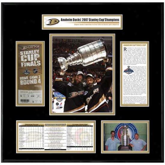 Anaheim Ducks 2007 Stanley uCp Champions Ticket Frame- Scott & Rob Niedermayer