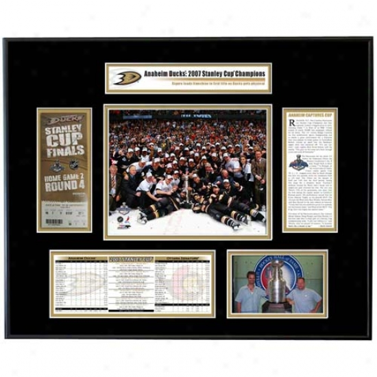 Anaheim Ducks 2007 Stabley Cup Champions Ticket Frame Team Celebration