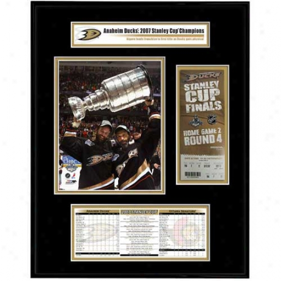 Anaheim Ducks 2007 Stanley Cup Champions Ticket Frame Jr.- Scott & Rob Niedermayer