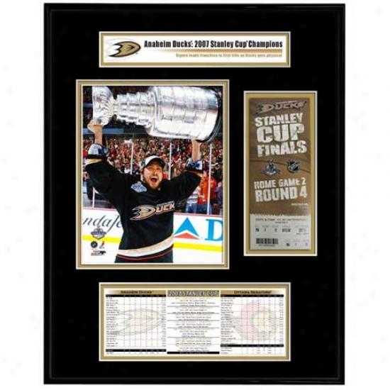 Anaheim Ducks 2007 Stanley Cup Champions Ticket Frame Jr.- Teemu Selanne