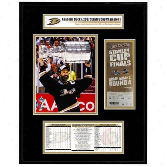 Anaheim Ducks 2007 Stanley Cup Champions Ticket Frame Jr. Scott Niedermayer