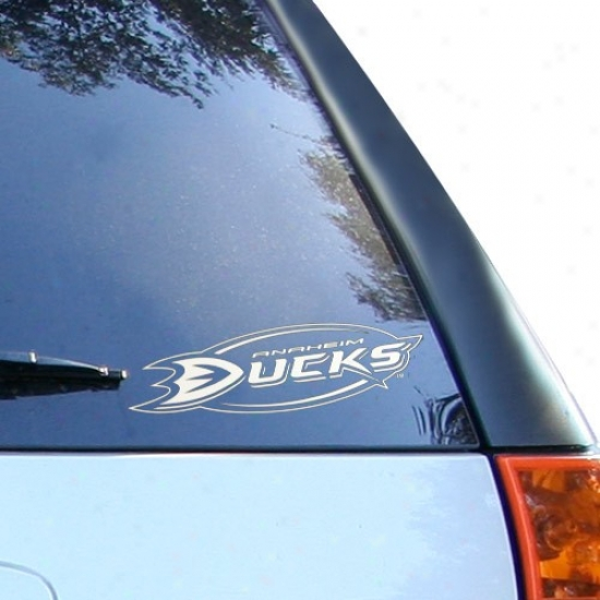 Anaheim Ducks 8x8 White Logo Decal