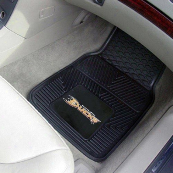 Anaheim Ducks Black 2-piece Vinyl Car Mat Set