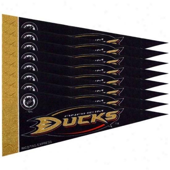 Anaheim Ducks Black 8-pack Mini Pnemant Set