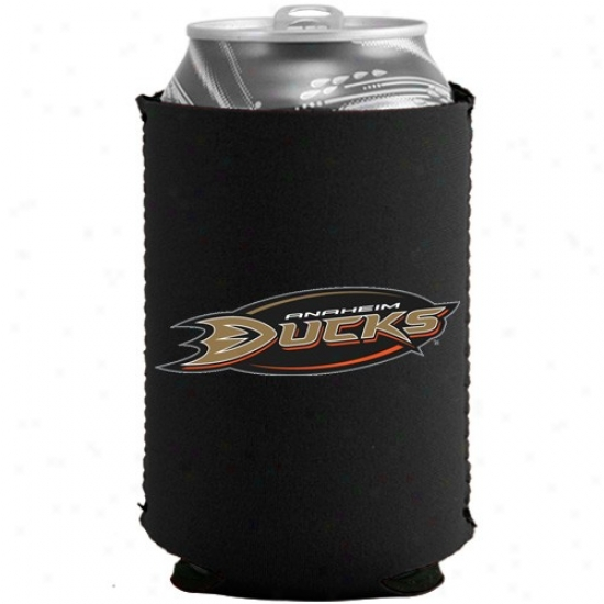 Anaheim Ducks Black Collapsible Can Coolie