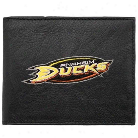 Anaheim Ducks Black Embroidered Billfold Wallet