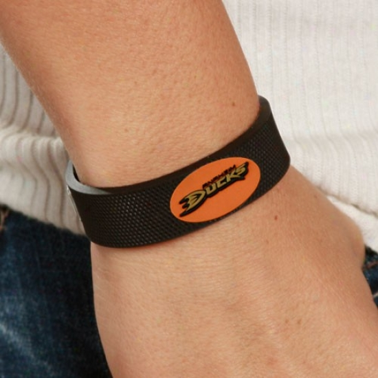 Anaheim Ducks Black Hockey Bracelet
