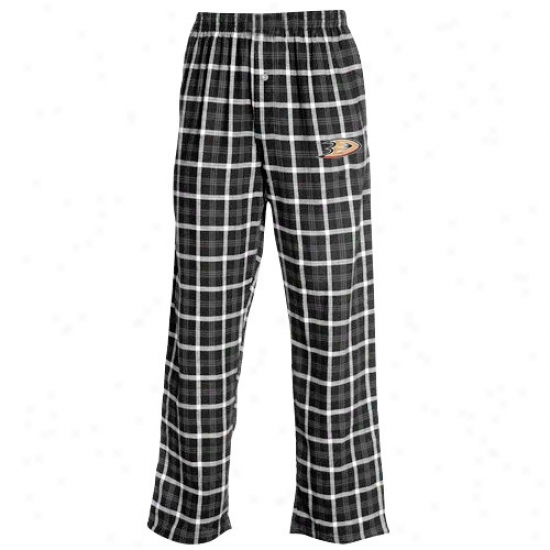 Anaheim Ducks Black Tailgate Pajama Pants
