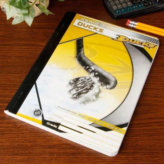 Anaheim Ducks Composition Notebook