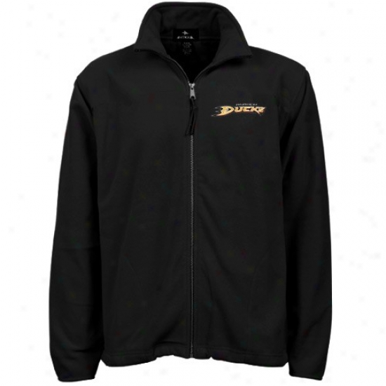 Anaheim Ducks Fleece : Antigua Anaheim Ducks lBack Sleet Full Zip Jacket