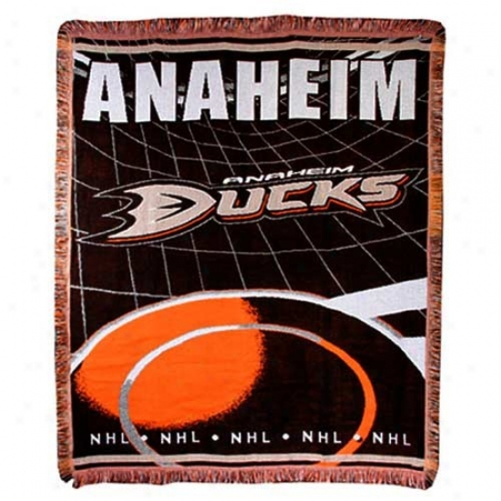 Anaheim Ducks Focus 0Wven Blanket Throw