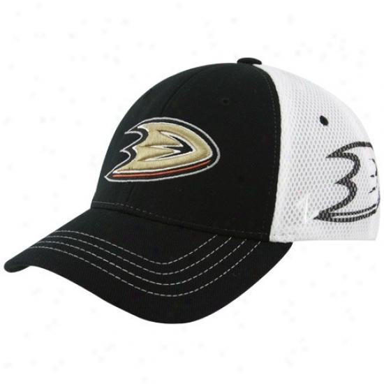 Anaheim Ducks Hats : Zephyr Anaheim Duucks Black Zfit Basic Logo Flex ...
