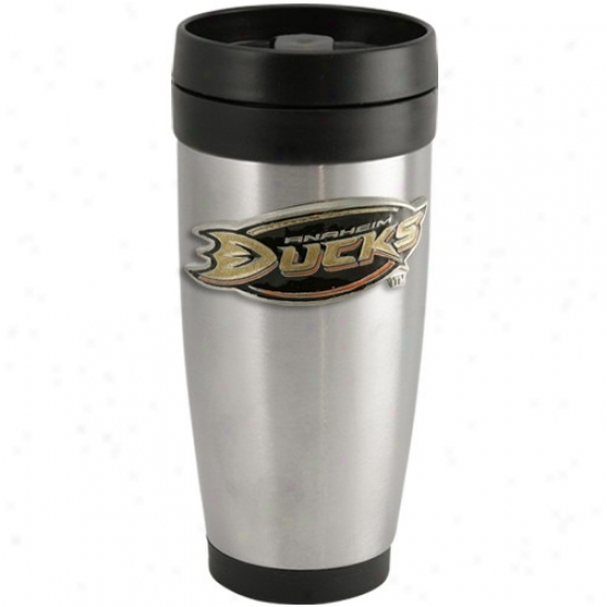 Anaheim Ducks Stainless Steel Team Logo Thermo Travel Tumbler