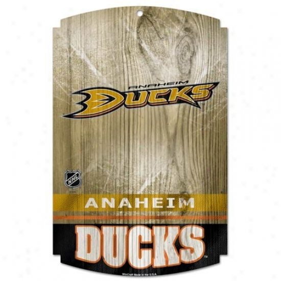 Anaheim DucksW ood Sign