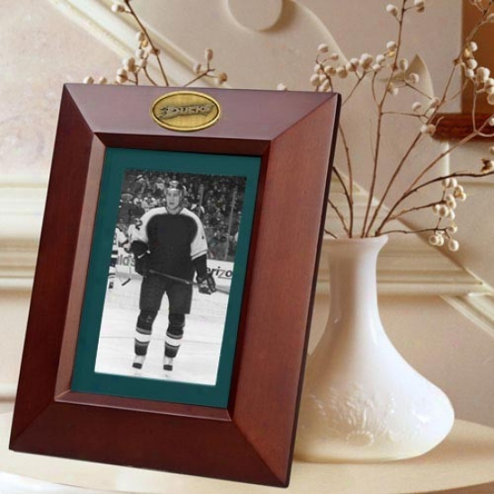 Aaheim Ducks Wooden Vertical Picture Frame