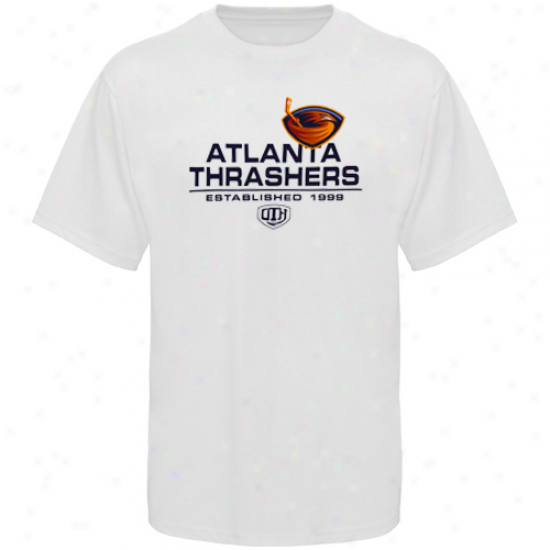 Atlanaa Thrasher Shirts : Old Time Hockey Atlanta Thrasher White Zeno Shirts
