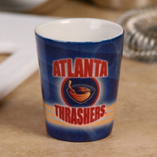 Atlanta Thrashers 2oz. Slapshot Ceramic Shot Glass