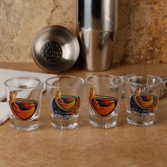 Atlanta Thrashers 4-pack Enhanced High Definition Design Shot Glass eSt
