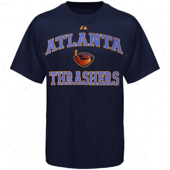 Atlanta Thrashers Apparel: Majestic Atlanta Thrashers Youth Ships of war Blue Seat of life & Soul T-shirt
