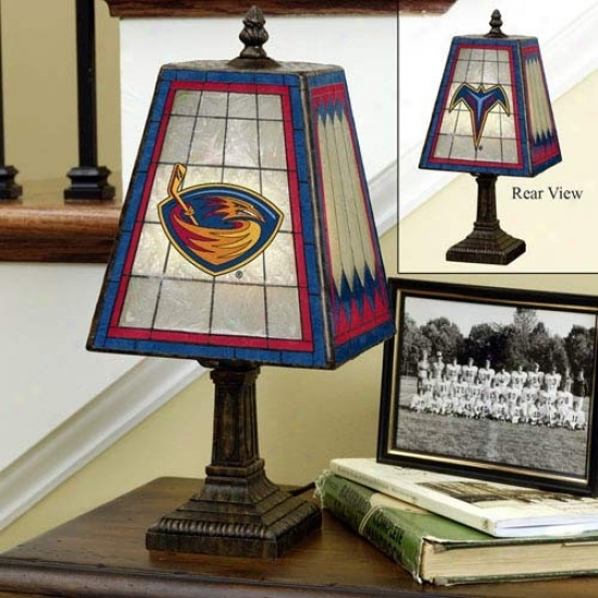 Atlanta Thrashers Art-glass Lamp