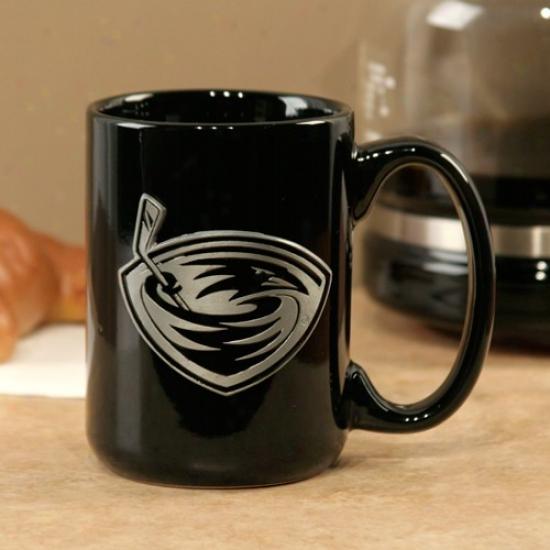 Atlanta Thrashers Black 15oz. Pewter Logo Ceramic Mug