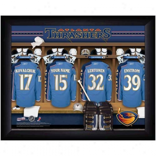 Atlanta Thrashers Customized Locker Room Black Framed Photo