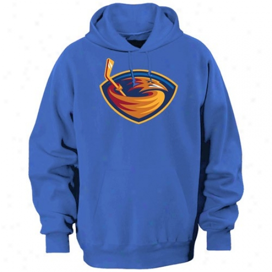 Atlanta Thrashers Hoodies : Majestic Atlanta Thrashers Light Blue Felt Tek Tract Hoodies