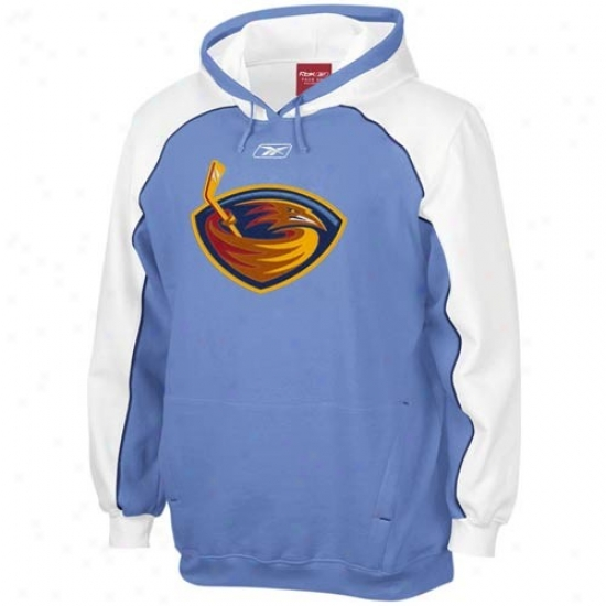 Atlanta Thrashers Hoody : Reebok Atlanta Thrashers Light Blue Franchise Hoody