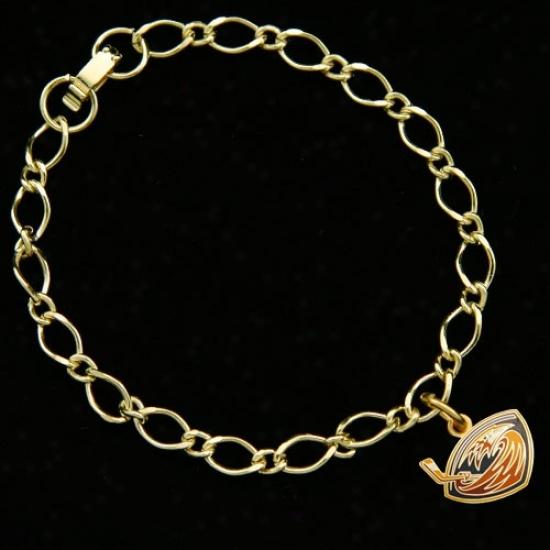 Atlanta Thrashers Ladies Gold-tone Charm Bracelet
