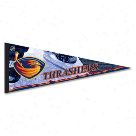 Atlanta Thrashers Navy Blue 12'' X 30'' Premiuj Felt Pennant
