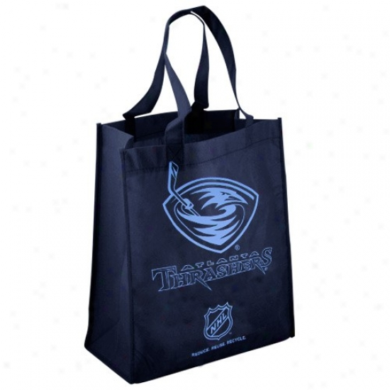 Atlanta Thrashers Navy Blue Reusbale Tote Bag