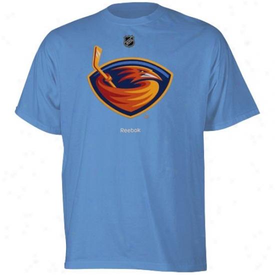 Atlanta Thrashers Shirts : Adidas Atlanta Thrashers Youth Light Blue Primary Logo Shirts