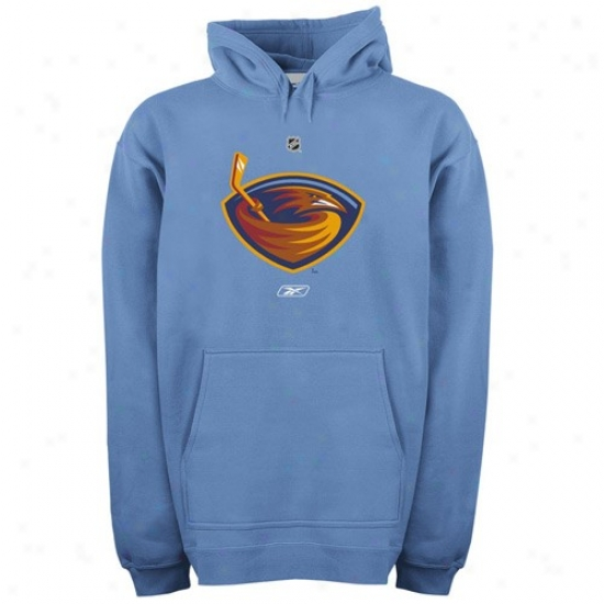 Atlanta Thrashers Sweat Shirt : Reebok Atlanta Thrashers Light Blue Primary Logo Sweat Shirt