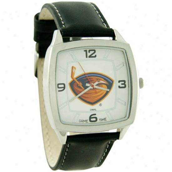 Atlanta Thrashers Watch : Atlanta Thrashers Retro Watch W/ Leather Band