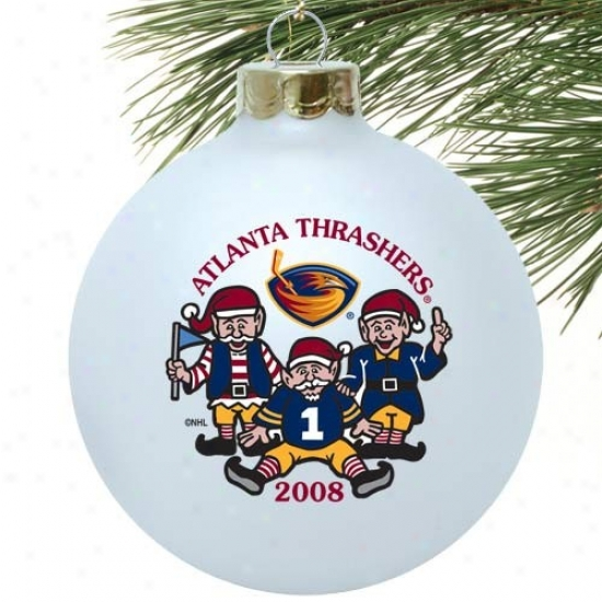 Atlanta Thrashers White 2008 Collectors Series Embellishment