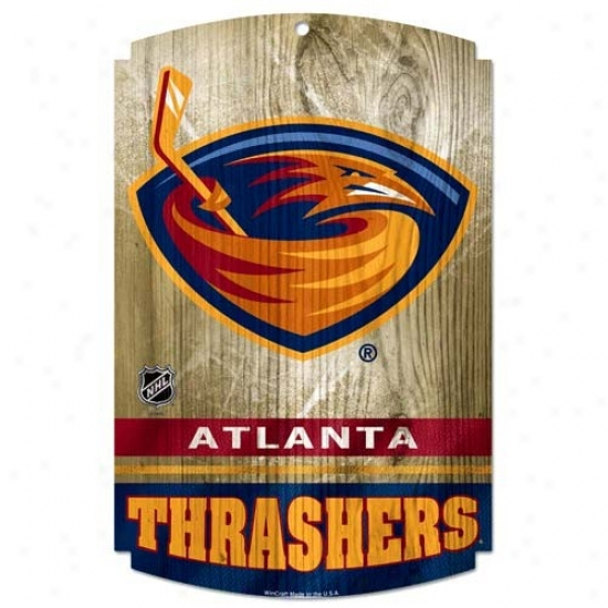 Atlanta Brown thrush sWood Sign