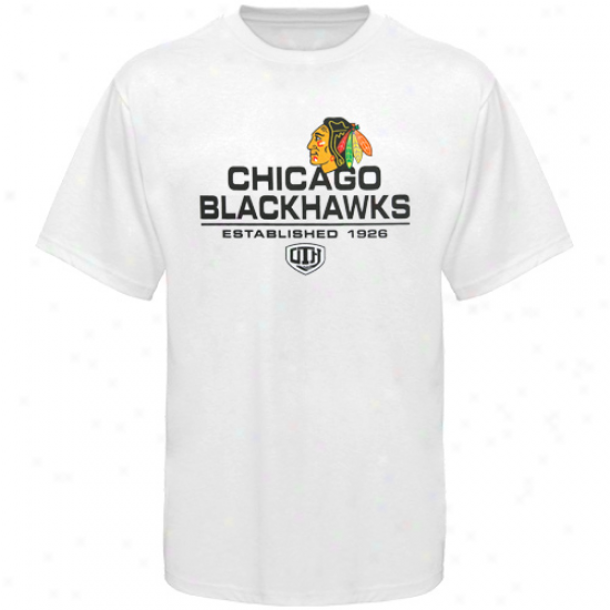 Black Hawks Apparel: Old Time Hockey Black Hawks White Zeno T-shirt